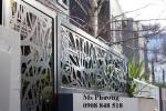 hàng rào kim loại hoa văn cắt CNC nghệ thuật