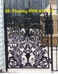Cửa, cổng hàng rào cắt CNC nghệ thuật, sơn tĩnh điện