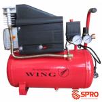 Máy nén khí mini có dầu 2HP WING ZBM-0.1/8-24L - Dung tích 24L