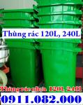 Bán rẻ thùng rác 120l, 240l nhựa HDPE, nắp kín, 2 bánh xe giá siêu rẻ- 0911082000