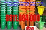 Bán thùng rác công cộng 120 lít, 240 lít giá siêu rẻ 0911.084.000