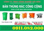 Nhà bán sỉ thùng rác giá rẻ- thùng rác 120l, 240l, 660l- màu xanh