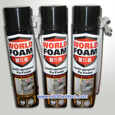 Foam P.U dạng chai - world foam