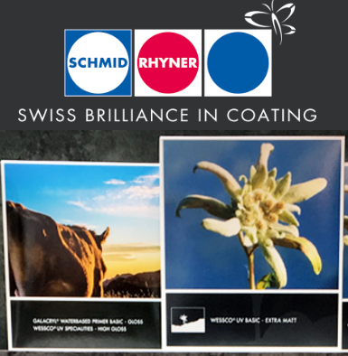 Sơn bóng, phủ bề mặt in, bao bì Schmid Rhyner Thụy Sĩ - Coating, Gloss