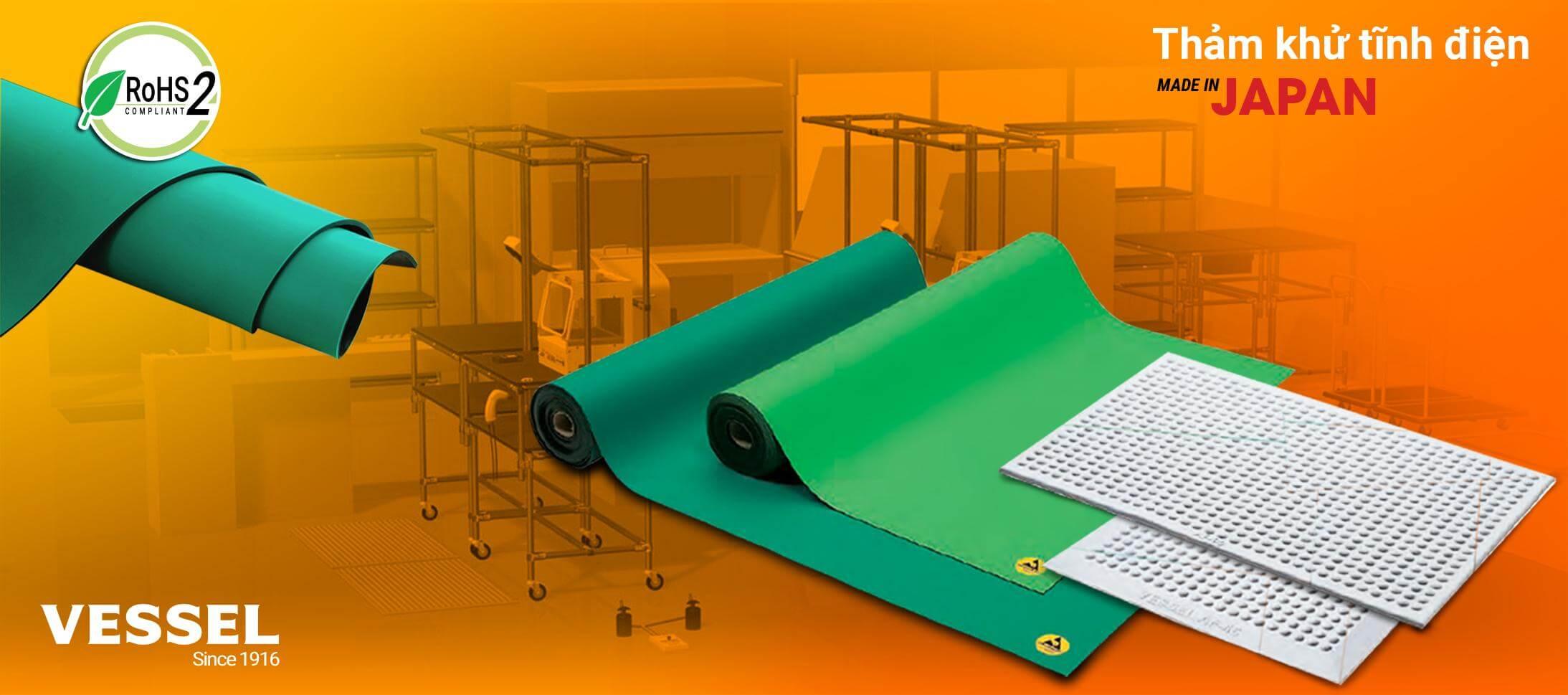 Cung cấp thảm tĩnh điện Vessel dùng trong công nghiệp