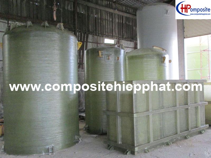 Bồn nhựa composite FRP chứa nước thải
