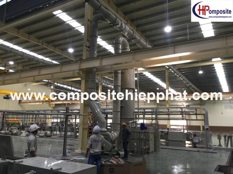 Tháp nhựa PP xử lý khí/mùi