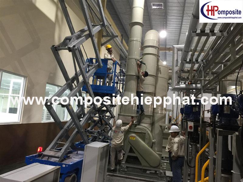 Tháp xử lý khí thải bằng nhựa FRP