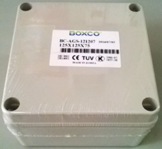Hộp chống thấm IP66 BOXCO BC-AGS-121207, KT: 125x125x75