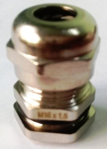 Xiết cáp mạ niken M16x1.5, có ron cao su