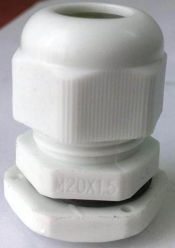 Xiết cáp nhựa M20x1.5, có ron cao su