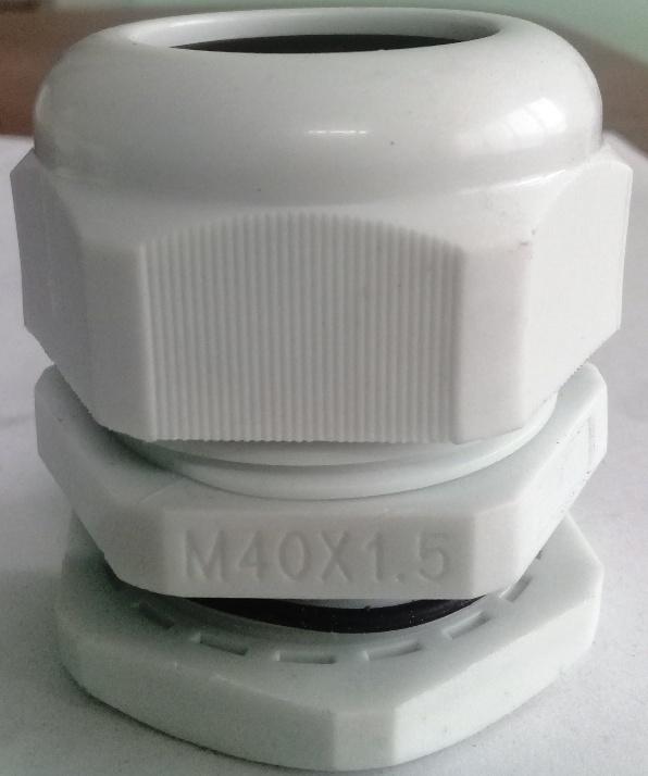 Xiết cáp nhựa M40x1.5, có ron cao su