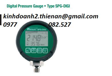 Đồng hồ áp suất Stauff SPG-DIGI-B0016-B-CAL