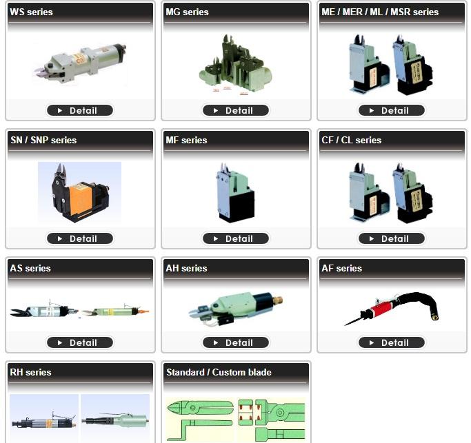 Kìm cắt khí nén nile air tool Argofile - Nhật Bản