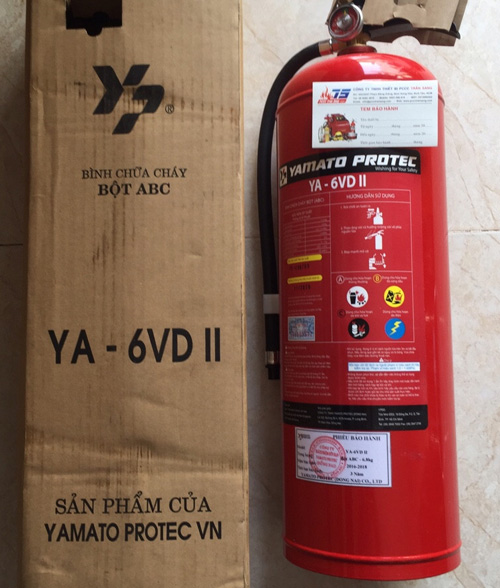 Bình chữa cháy bột ABC 6.8kg, YA-6VD II- Yamato Nhật Bản/VN
