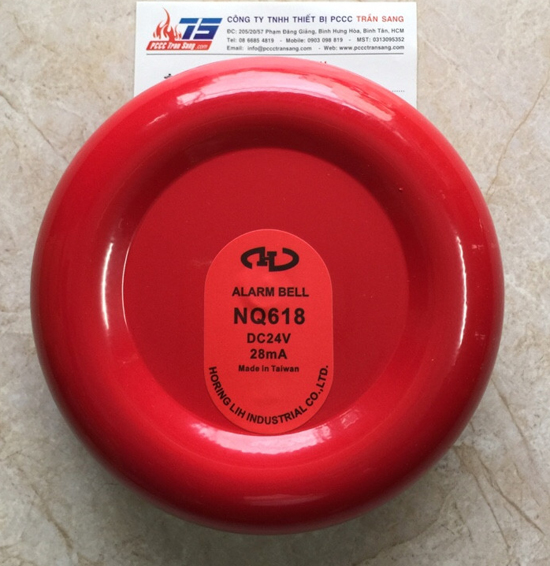 """Chuông báo cháy 6"""" 12VDC NQ-618- Horing"""