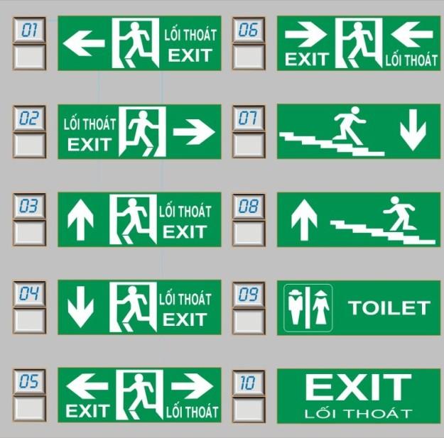 Đèn Exit dạng hộp 1 mặt (15cmx40cm)KT-610- Kentom/Việt Nam