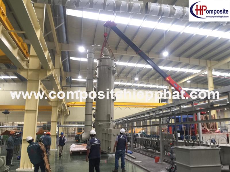 Tháp xử lý khí thải PP