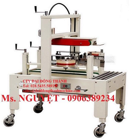 Máy dán băng keo hai bên hông thùng carton WP-5050SA giá rẻ Miền Nam