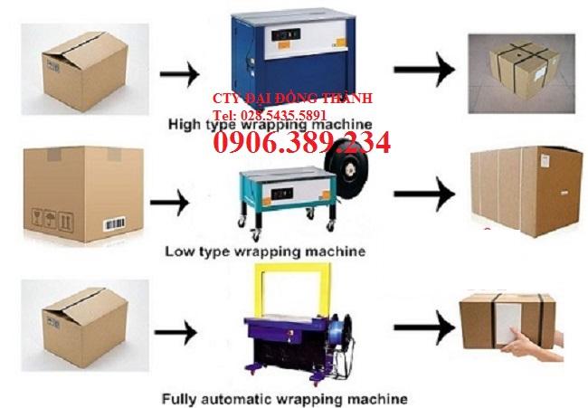 Máy đóng đai thùng carton nhập khẩu giá rẻ