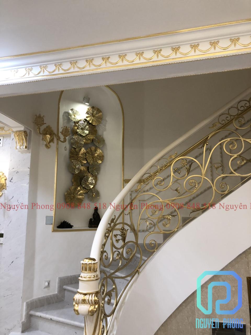 Chuyên thiết kế, gia công, thi công cầu thang sắt uốn mỹ thuật HCM, Bình Phước