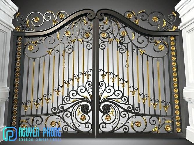 Gia công, thi công cổng sắt cắt CNC, cổng sắt uốn mỹ thuật đẹp nhất