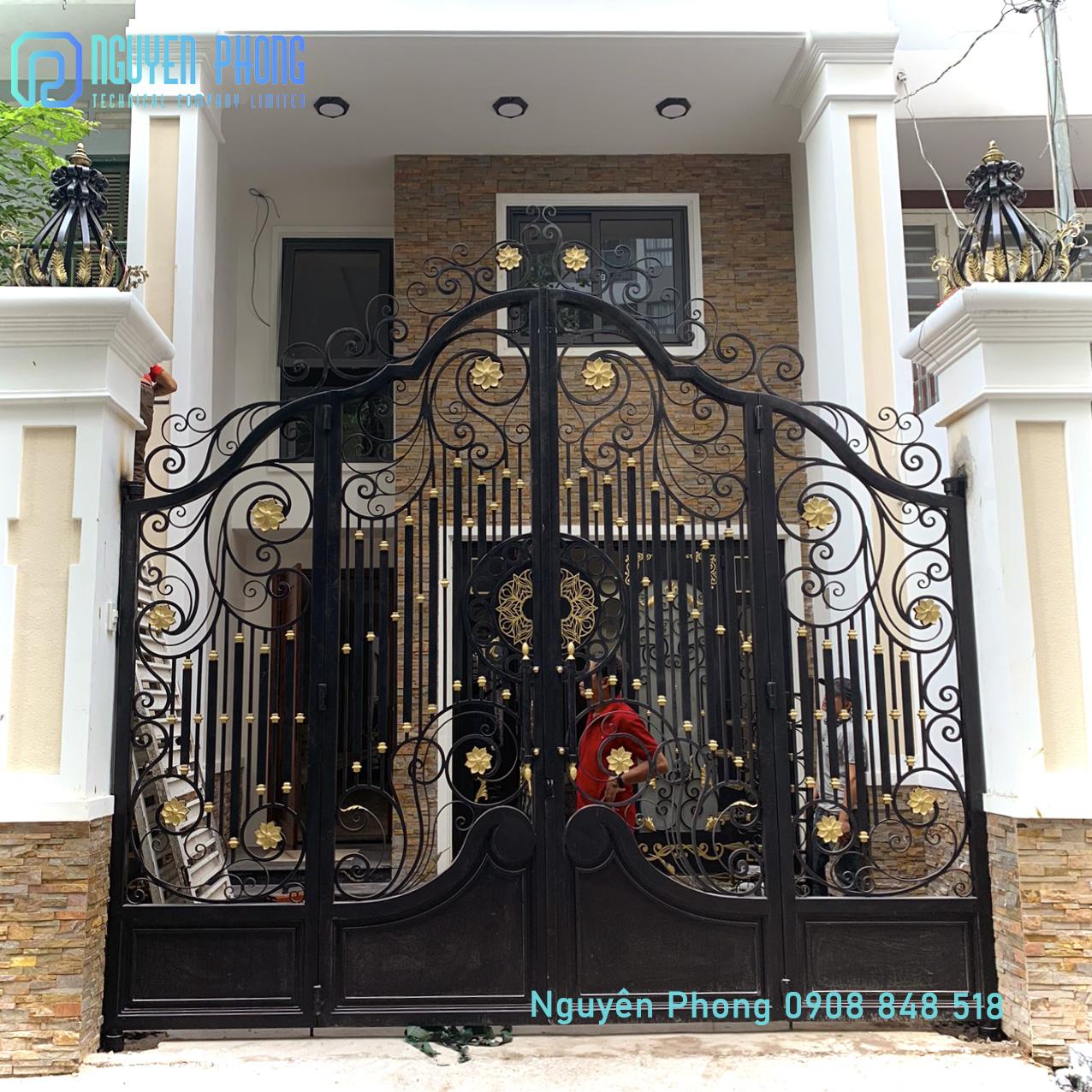 Gia công, thi công trọn gói cổng, cửa, lan can, hàng rào, vách ngăn sắt CNC, sắt uốn mỹ thuật HCM, Bình Phước, Bình Dương