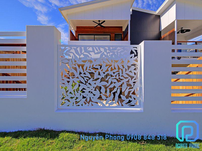 Hàng rào cắt CNC nghệ thuật, đường nét đẹp cho hồ bơi, biệt thự, villa