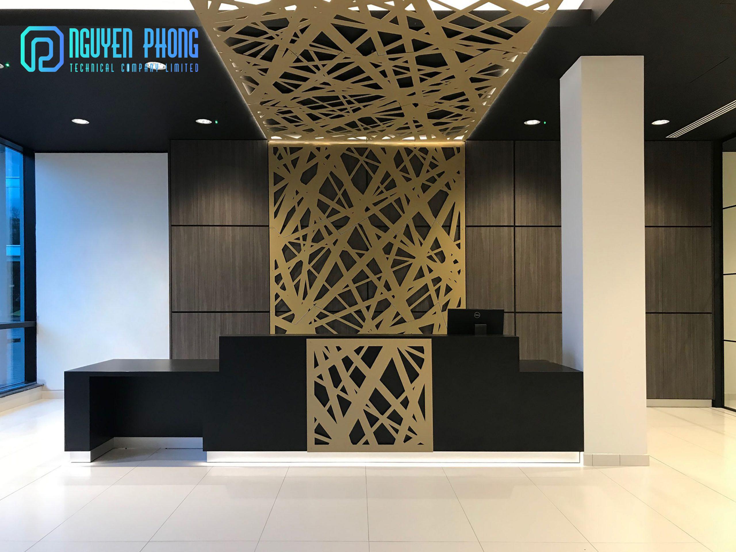 Hệ mặt dựng sắt, nhôm hoa văn CNC nghệ thuật trang trí ngoại thất