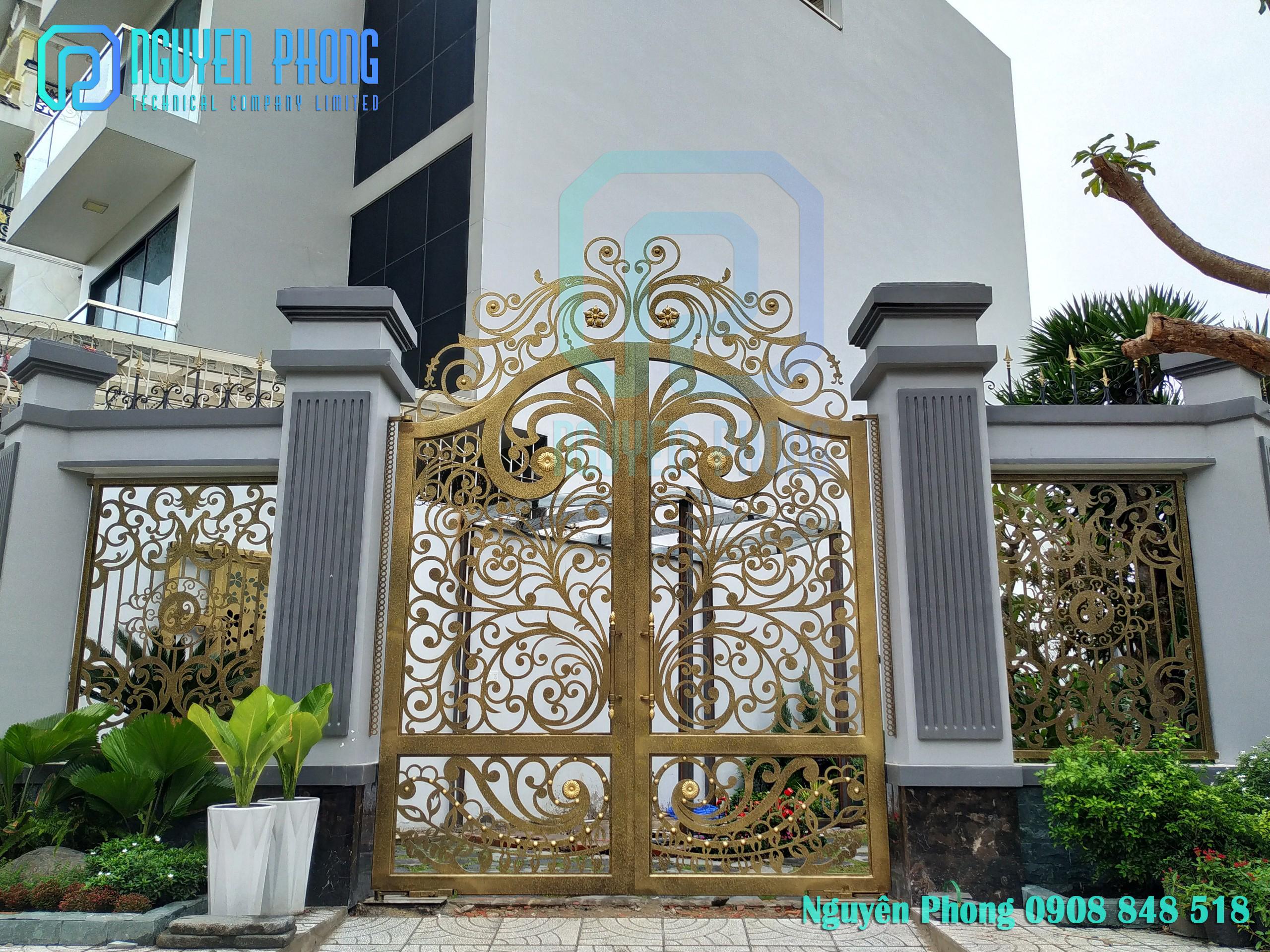 Nguyên Phong thiết kế, gia công, thi công cổng sắt mỹ thuật, sơn epoxy cao cấp cho biệt thự, nhà phố