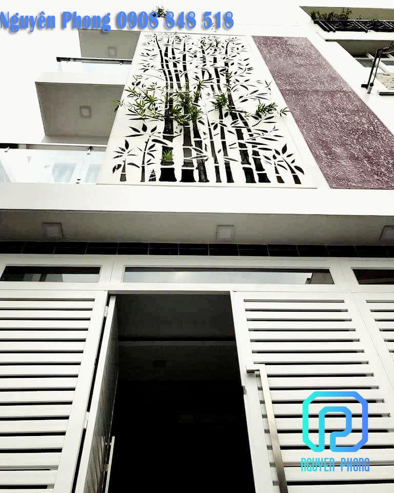 Tấm panel, mặt dựng sắt cắt hoa văn CNC trang trí mặt tiền cho biệt thự, nhà phố