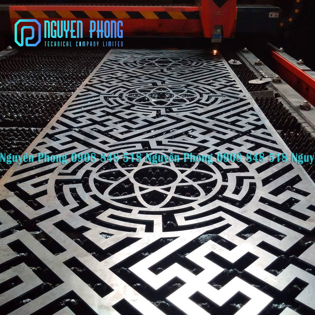 Thiết kế, gia công CNC tấm kim loại cắt hoa văn CNC chính xác, uy tín HCM, Bình Dương, Bình Phước
