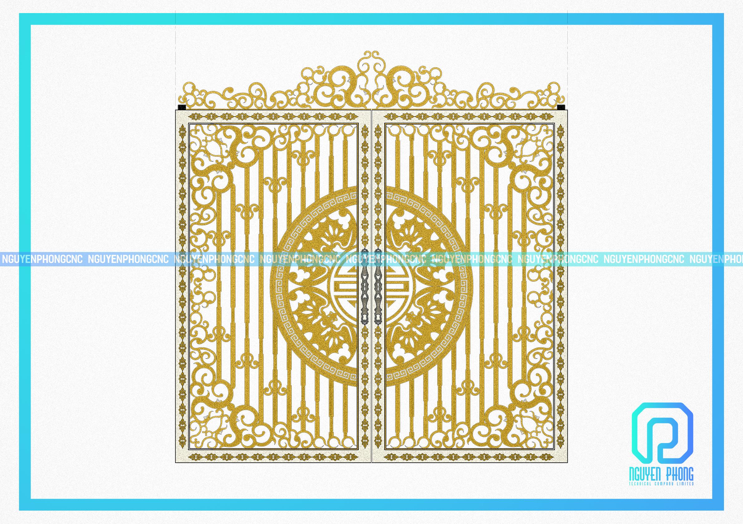 Thiết kế, gia công cổng sắt mỹ thuật cổ điển cho biệt thự, villa cao cấp, sang trọng