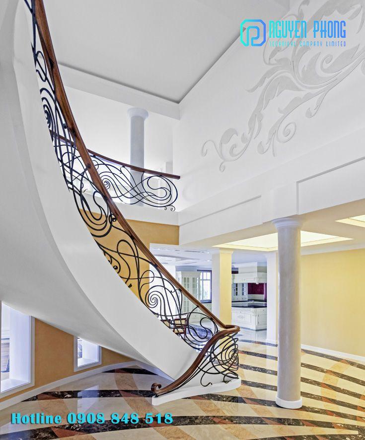Thiết kế, gia công lan can cầu thang sắt CNC, sắt uốn nghệ thuật đẹp nhất 2020