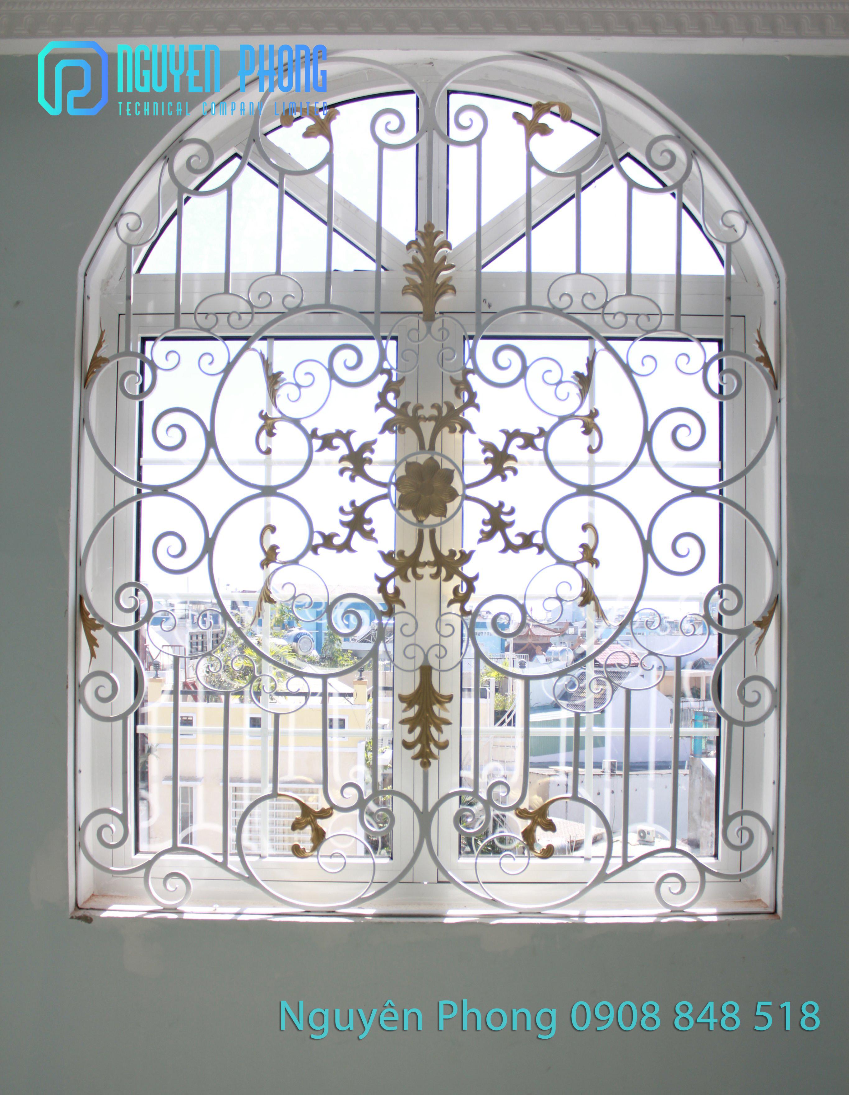 Thiết kế, gia công, thi công khung cửa sổ sắt uốn mỹ thuật sang trọng giá tốt nhất