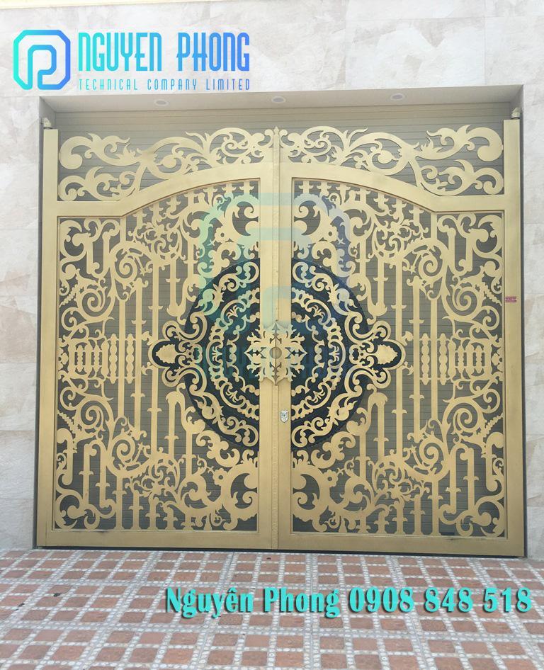 Thiết kế, gia công, thi công trọn gói cổng rào hoa văn đẹp xuất sắc, sơn bền màu với thời gian