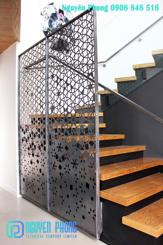 Thiết kế, gia công, thi công vách ngăn sắt cắt CNC, vách ngăn sắt mỹ thuật đẹp trang trí nội thất