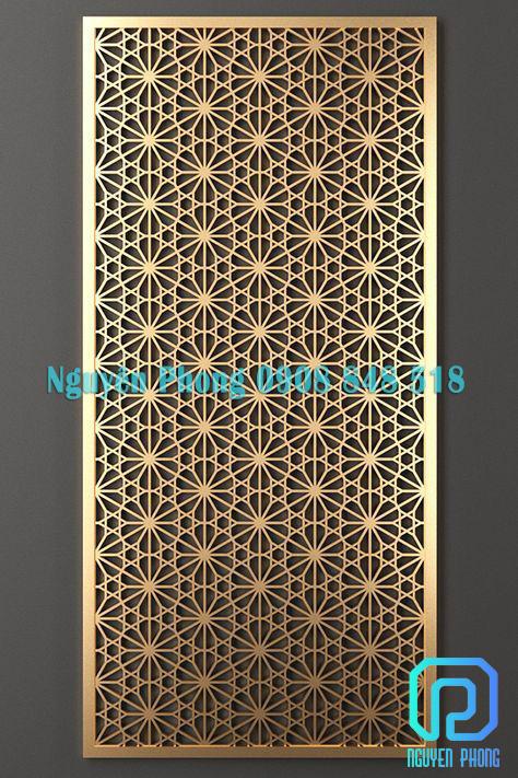 Vách ngăn sắt CNC sơn màu vàng gold, màu đồng giả cổ đẹp, giá tốt nhất