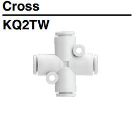 Đầu nối khí nén - Nối Nhanh Chữ Thập SMC KQ2TW Series