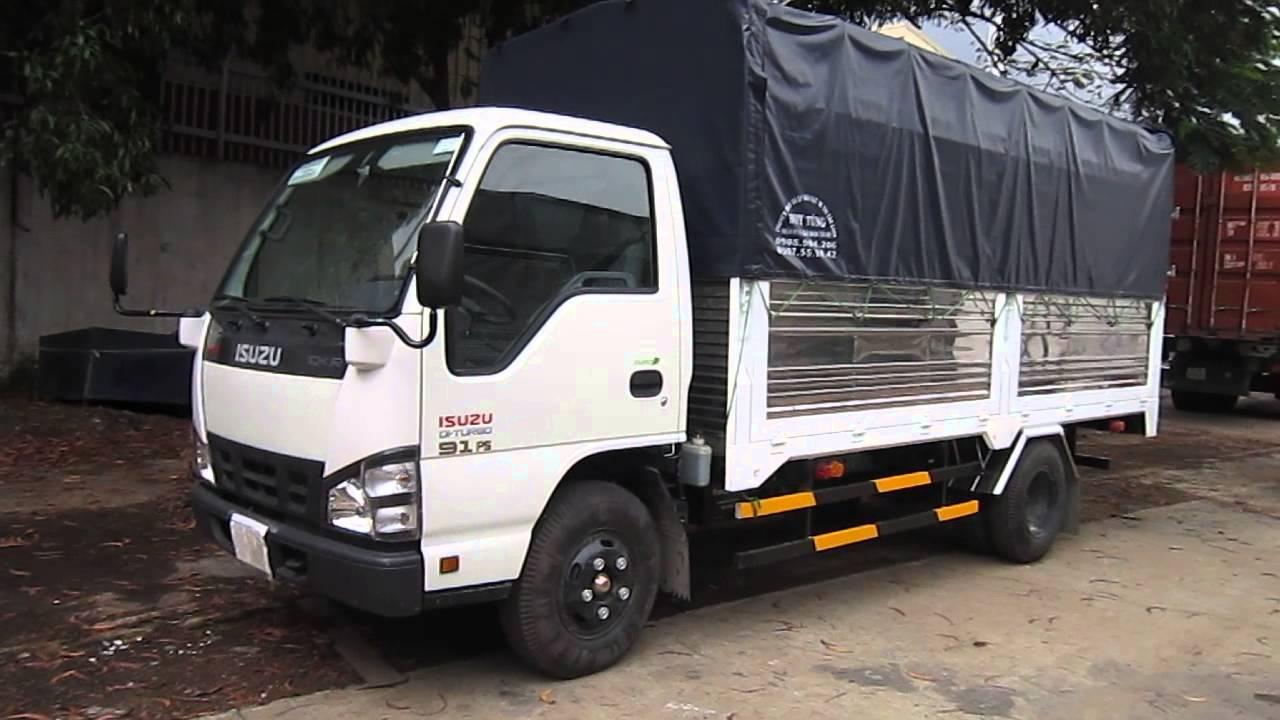 bán xe tải isuzu 2 tần 2 thùng mui bạt trả góp