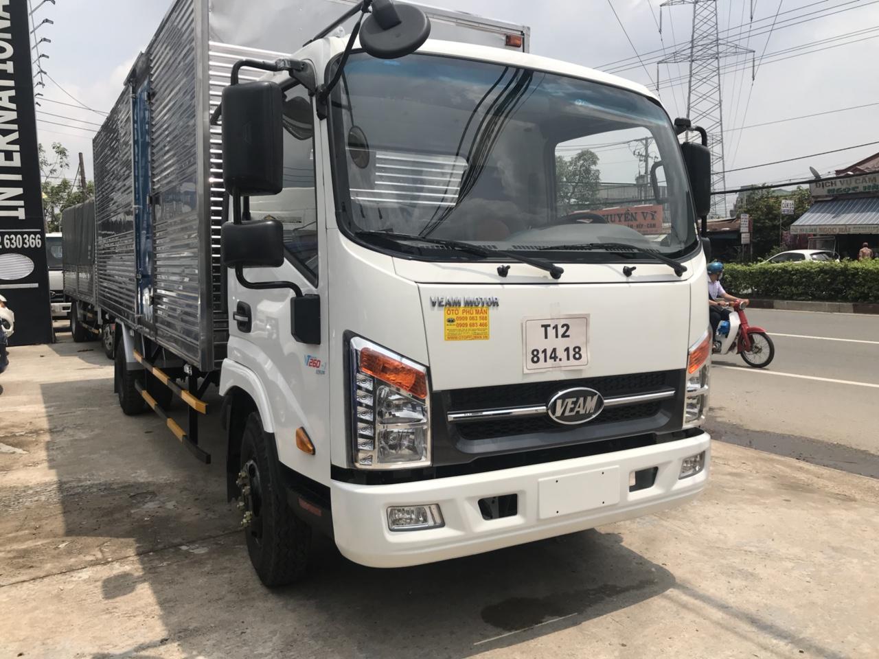 dai li bán xe tải 2 tấn thùng dài 6m máy isuzu siêu tiết kiệm VT260