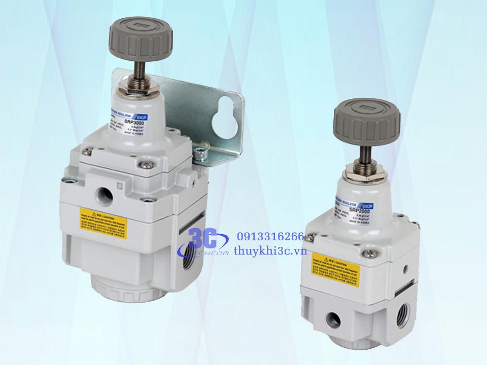 Bộ điều áp khí nén chỉnh tinh SRP 2000 và SRP 3000 Series