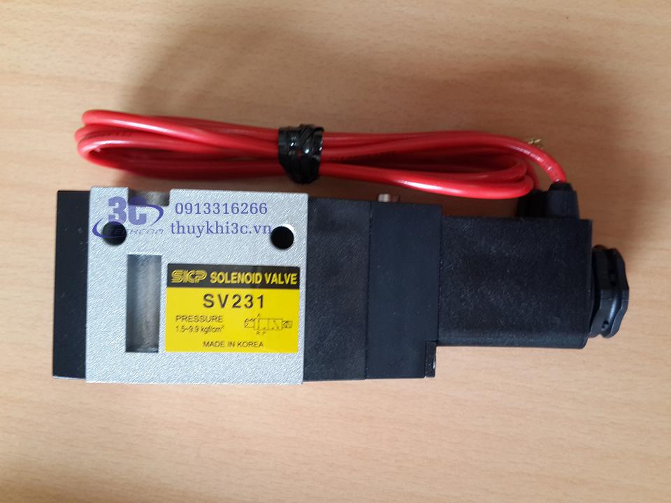 Van điện từ khí nén 3/2 mã SV231, hãng SKP - Hàn Quốc