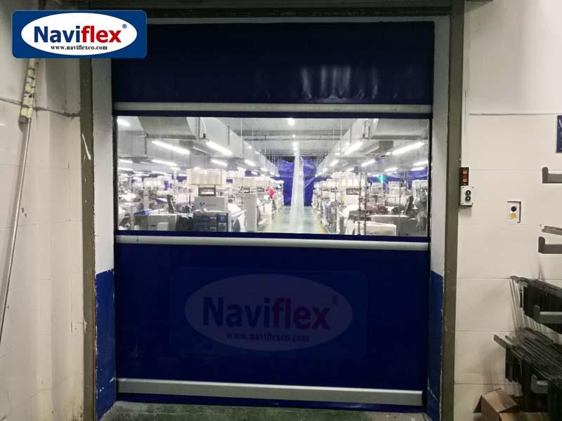 Cửa Cuốn Nhanh PVC Naviflex Đóng Mở Tốc Độ Cao