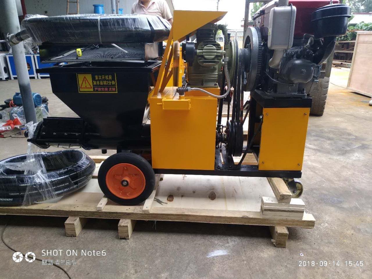 máy bơm vữa trét tường ZP380 chạy máy nồ