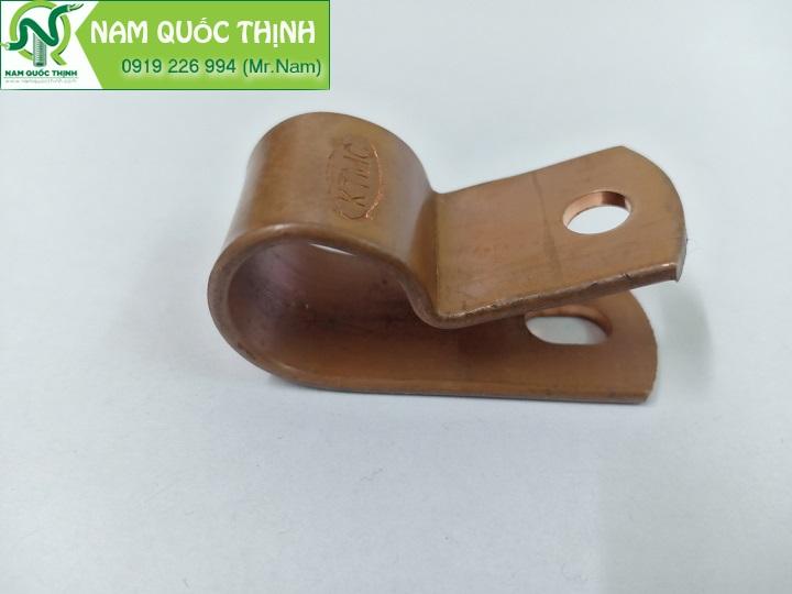 Kẹp giữ cáp đồng trần dùng trong hệ thống chống sét