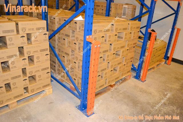 Kệ nhà kho để thực phẩm xuất khẩu