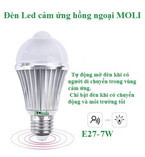 ĐÈN LED CẢM ỨNG HỒNG NGOẠI 7W PSL7N