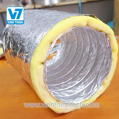 Ống gió mềm có cách nhiệt bằng bông thủy tinh - Thương hiệu Connect.