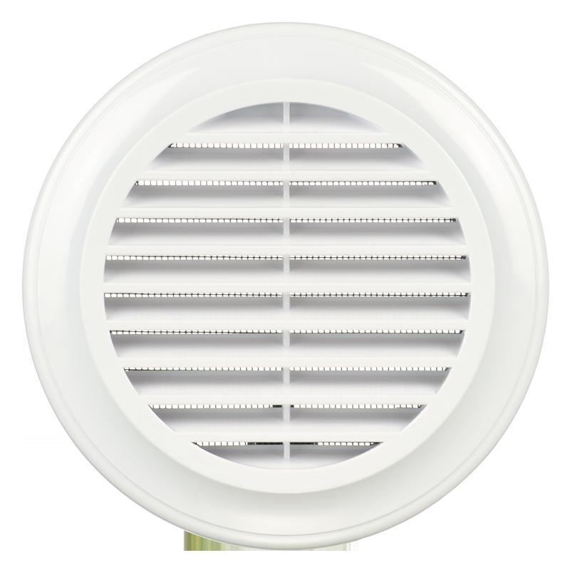 Cửa gió nhựa TRÒN có lưới ngăn côn trùng - DECOR